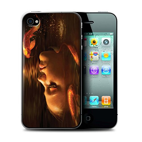 Officiel Elena Dudina Coque / Etui pour Apple iPhone 4/4S / Sous-Marin Design / Agua de Vida Collection Poissons d'Or