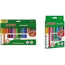 Alpino - Pack 24 rotuladores de colores + 12 rotuladores de colores