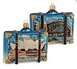 Sydney Australia Travel Suitcase Glass Christmas Ornament ONE Opera House Decor