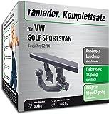Rameder Komplettsatz, Anhängerkupplung abnehmbar + 13pol Elektrik für VW Golf SPORTSVAN (137419-11878-1)