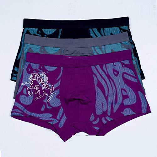 CYISK Herren Baumwolle Boxer Briefs Bamboo Pulp Fiber Boxer Pants 4St,B,XL -