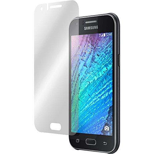 PhoneNatic 2er-Pack Bildschirmschutzfolien klar kompatibel mit Samsung Galaxy J1 (2015 - J100)