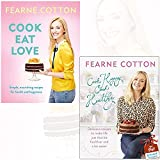 Cook Eat Love and Cook Happy, Cook Healthy By Fearne Cotton Collection 2 Books Bundle With Gift Journal
