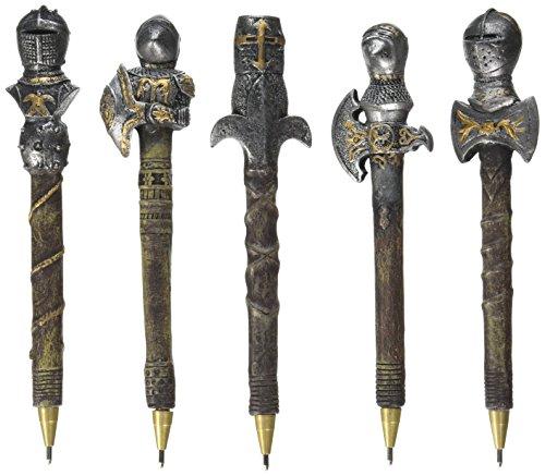 Design Toscano CL993664 Staute des Chevaliers du royaume Multicolore 1,5 x 16,5 x 1,5 cm