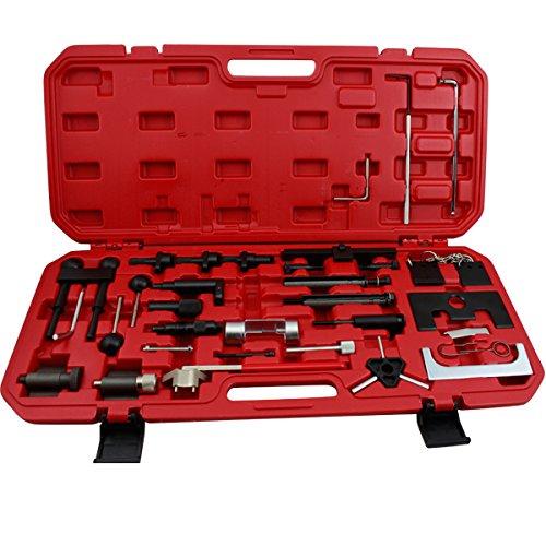 HG® Motor Einstellwerkzeug Zahnriemenwerkzeug Zahnriemen Arretierwerkzeug Steuerriemen Kurbelwelle Nockenwelle Werkzeug Satz für VW Audi