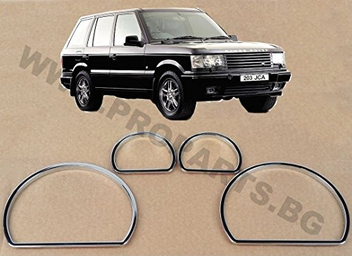 Rover Range 1996 (Range Rover P38 Chrome Tachoanzeiger-Skala Ringe Lünette Trim Armaturenbrett 95-02)