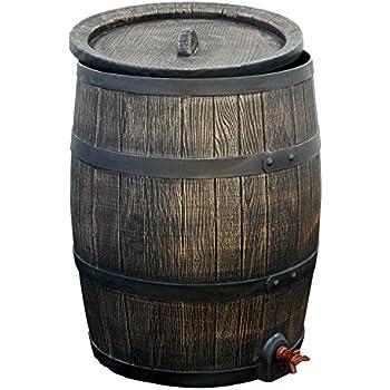 Regentonne braun Roto 120 Liter holzoptik (Inkl. Deckel