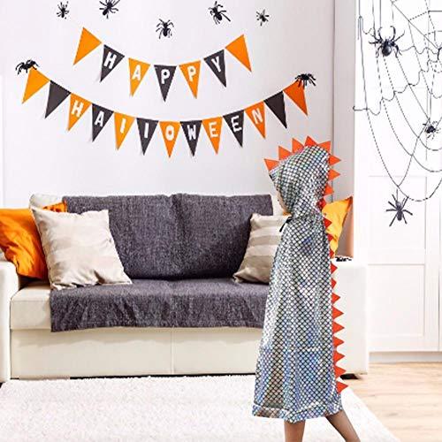 elalterlichen Stil Kapuzenmantel Halloween-Kostüm verkleiden Sich so tun, als Spielen Fantasy-Robe für Kinder Jungen Mädchen ()