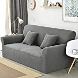 UMIWE Sofa Covers 3 Seater 2 Seater Couch Saver Slipcover High Elastic Armchair Cushion Covers for Sectional Sofa in Black/Beige/Navy Blue/Burgundy/Grey/Dark Brown
