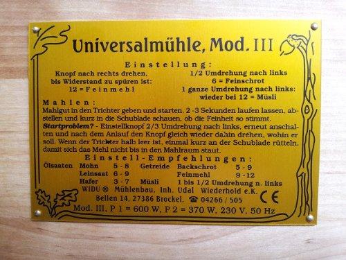 Getreidemühle WIDU Universalmühle Mod. III aus Holz - 9