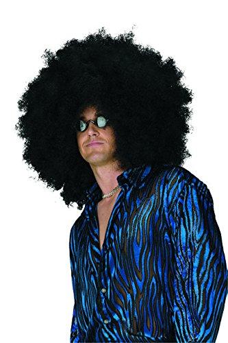 Jumbo Afro Perücke Karneval-Zubehör schwarz (Schwarze Jumbo Afro Perücke)