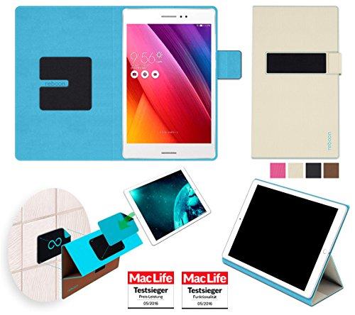 reboon Hülle für Asus ZenPad S 8.0 Z580CA 16GB Tasche Cover Case Bumper | in Beige | Testsieger