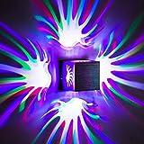 HAIZHEN Led Creative luce da parete quadrata led multicolore luce da parete viola luce montata, 80*80*80mm