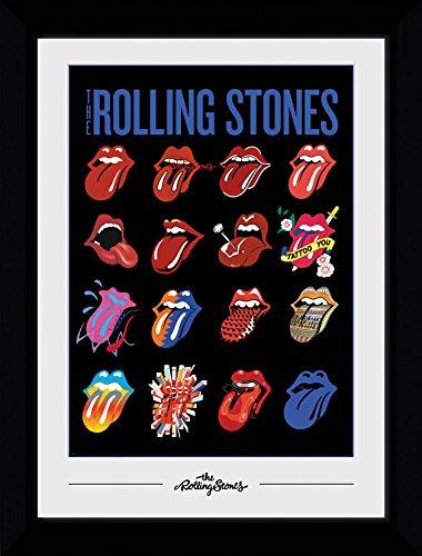 GB eye Ltd Rolling Stones Tongues 30mm Negro impresión