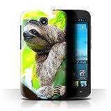 Stuff4 Hülle / Hülle für Huawei Ascend Y600 / Faultier Muster / Wilde Tiere Kollektion