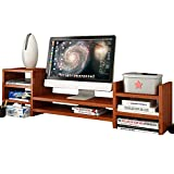 SURRORT LCD-Bildschirm Multilayer Base Multifunktions-Desktop-Speicher Rack Hölzerne Größe 97 * 20 * 28cm ( Farbe : 1# )