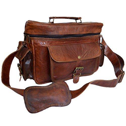 Mad Over Shopping Indian Vintage Tasche aus echtem Leder Kameraobjektiv Fall DSLR Sony Canon Nikon Fotografie Taschen