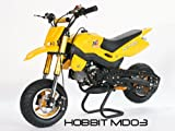 Dirtbike 49cc Hobbit Sport Pocketbike Crossbike Kinderbike Gelb