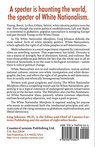 The White Nationalist Manifesto por Greg Johnson