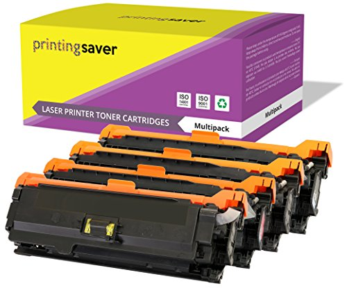 Printing Saver 4 Premium Toner kompatibel zu CE400A CE401A CE402A CE403A (507A) für HP LaserJet Enterprise 500 M551n M551d M551dn M551x M551xh MFP M570dw M575c M575dn M575f (Hp Laserjet Enterprise 500 M551xh)