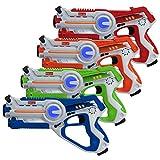 kidzlane Infrared Laser Tag : Game Mega Pack - Set of 4 Players