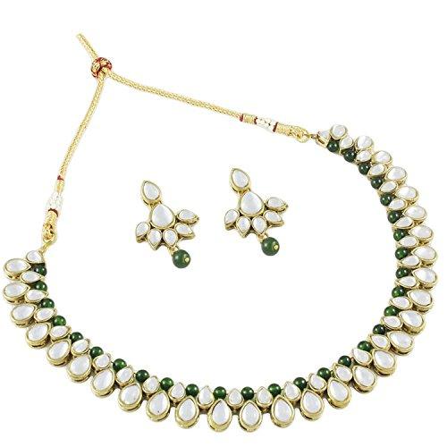 Kundan Fancy Party Wear Jewellery Necklace Set For Women By Shining Diva