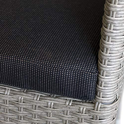 Polyrattan Sessel grau-meliert - 4