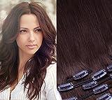 Clip in Extension set 7pezzi Liscio 40cm Extension per capelli capelli parte 100% veri capelli clip in Hair Extension di glamxte nsions