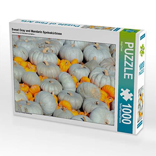 CALVENDO Puzzle Sweet Gray und Mandarin Speisekürbisse 1000 Teile Lege-Größe 64 x 48 cm Foto-Puzzle Bild von Anja Frost