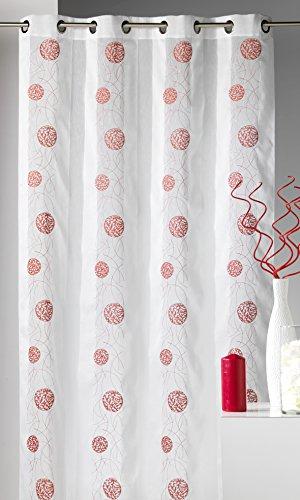 Homemaison.com hm69806937 - tenda fantasia in tessuto ricamato, motivo a pois, 140 x 240 cm, colore grigio