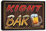 scw3-006956 KIGHT Name Home Bar Pub Beer Stretched Canvas Print Sign