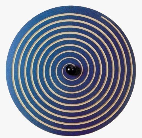 Wandkreisel Set - 'Wandkreisel I Spirale blau' und 'Wandkreisel II Welle blau' aus MDF-Holz!