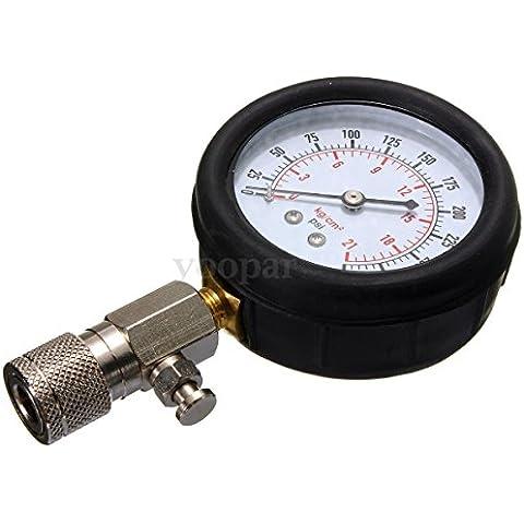 Medidor de compresion del motor de gasolina - SODIAL(R) Medidor de compresion del motor de gasolina conjunto de herramientas de valvula de manometro de motocicleta y