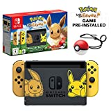 Nintendo Switch Let's Go Eevee Limited Edition Console with Joycon, Pre-Installed Pokémon: Let's Go Eevee + Pokeball Plus Controller