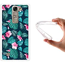 Funda LG G4c, WoowCase [ LG G4c ] Funda Silicona Gel Flexible Flores Tropicales 2, Carcasa Case TPU Silicona - Transparente