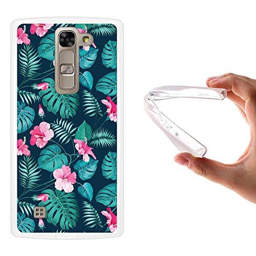 WoowCase LG G4c Hülle, Handyhülle Silikon für [ LG G4c ] Tropische Blumen 2 Handytasche Handy Cover Case Schutzhülle Flexible TPU - Transparent