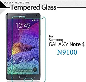 Ample Wings Premium Real Tempered Glass Film Screen Protector for Samsung Galaxy Note 4 ...