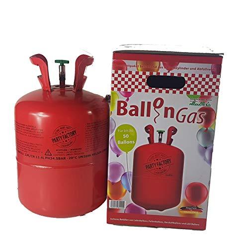 Helium Ballon-Gas Einweg für ca.50 Ballons 0,42 qm³ Folienballons Heliumflasche