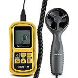 Victor anémomètre Vc816b Handheld Vitesse du vent et de la température Mesures