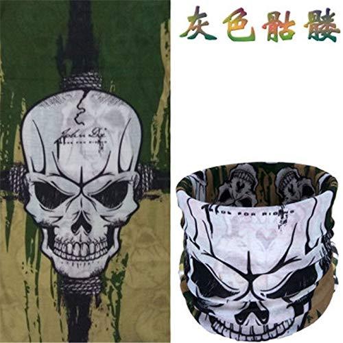 HITSAN INCORPORATION Bandana Motorcycle Skull Mask Ghost Halloween Face Mask Outdoor Sport Scarf Mask Bicyle Bike Balaclavas Women Handkerchief H282