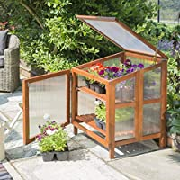 Rowlinson HWCOLDFR1 Hardwood Coldframe, Brown, 60x61x80 cm