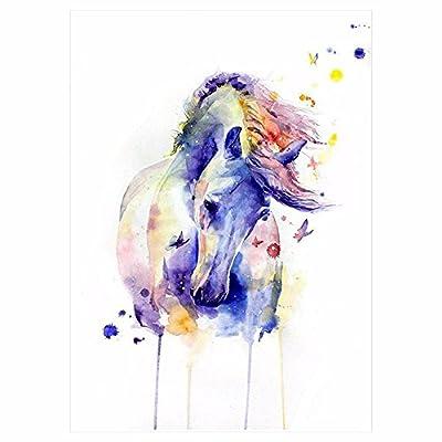 1 x DIY Body Art Tattoos bunte Tiere Aquarell Malerei Zeichnung Pferd Schmetterling Aufkleber wasserdichte Tattoos Aufkleber