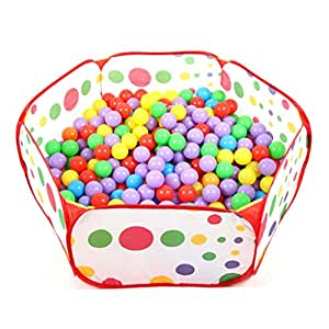 vanker 1 5m tragbare hexagon ozean kugel grube pool kinder spiele spielen spielzeug zelt amazon. Black Bedroom Furniture Sets. Home Design Ideas