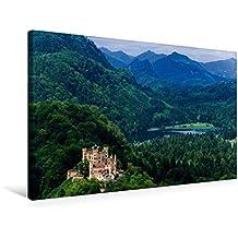 Calvendo Premium Textil-Leinwand 75 cm x 50 cm Quer, Schloss Hohenschwangau | Wandbild, Bild auf Keilrahmen, Fertigbild auf Echter Leinwand, Leinwanddruck Orte Orte