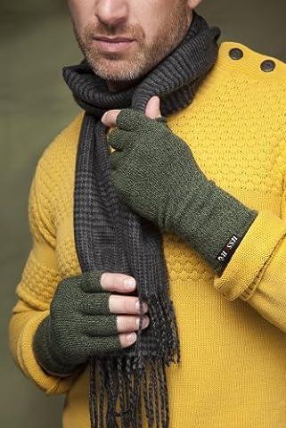 Mens 1 Pair Ussen Baltic Half Finger Gloves In 2