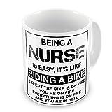 Being A Nurse Is Easy It's Like Riding A Bike Funny Novelty Gift Mug