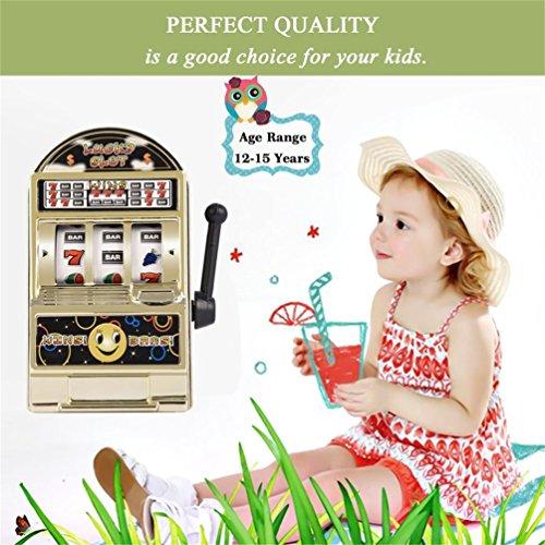 Tragamonedas para niños Mini Juguete Lucky Birthday Gift Kids Safe New 1Piece (Color: Plateado, Dorado)