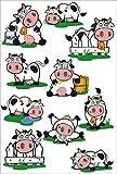 Klecksis Stickerbogen Liebe Kühe - 11 Sticker - Digital gedruckte selbstklebende Aufkleber