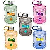 Botella deportiva de 1,9 litros »TheBigOne« de Tritan (inodoro). Botella deportiva ideal / recipiente de agua para la ingesta de líquidos durante el entrenamiento / abertura extragrande y cómoda asa / gran selección de colores - rosa