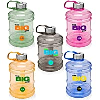 1.9 litre »TheBigOne« sports water bottle made of odourless Tritan material. Ideal water bottle / water canister for extreme fluid needs during workouts / extra-large drinking spout and comfortable handgrip / wide choice of colours such as black blue green orange pink